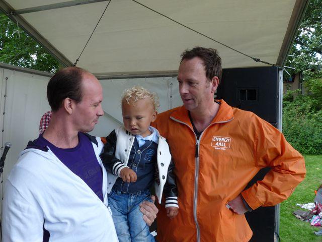 Papa, Tim en Jochem